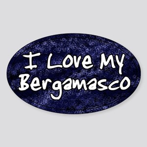 Funky Love Bergamasco Oval Sticker