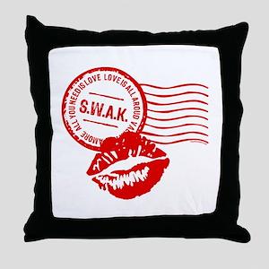 Love Stamp Throw Pillow