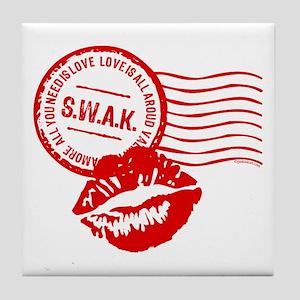 Love Stamp Tile Coaster