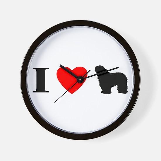 I Heart Bergamasco Wall Clock