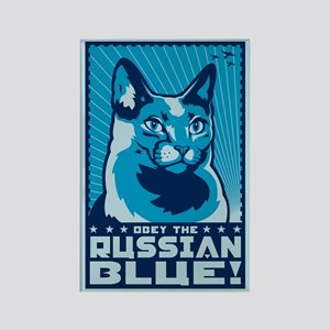 Obey the RUSSIAN BLUE! Cat Magnet