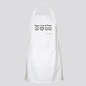 Peace, Love & Twins BBQ Apron
