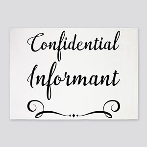 Confidential Informant 5'x7'Area Rug