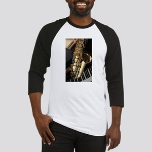 Saxophone And Piano Baseball Jersey