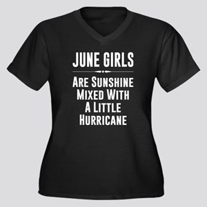 June girls are sunshine mixed wi Plus Size T-Shirt