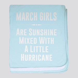 March girls are sunshine mixed with a baby blanket