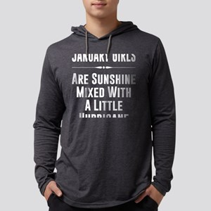 January girls are sunshine mix Long Sleeve T-Shirt