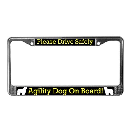 Bergamasco Agility Dog License Plate Frame