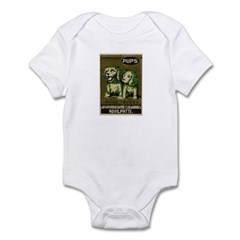 Pups Matchbox Label Infant Bodysuit