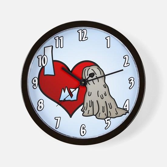 Love Fawn Bergamasco Clock
