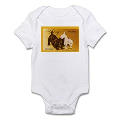 Scottie + Westie Matchbox Label Infant Bodysuit