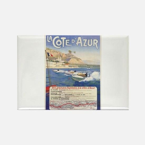 Vintage French Boat Race Rectangle Magnet