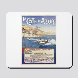 Vintage French Boat Race Mousepad