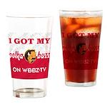 Polka Buzz Drinking Glass