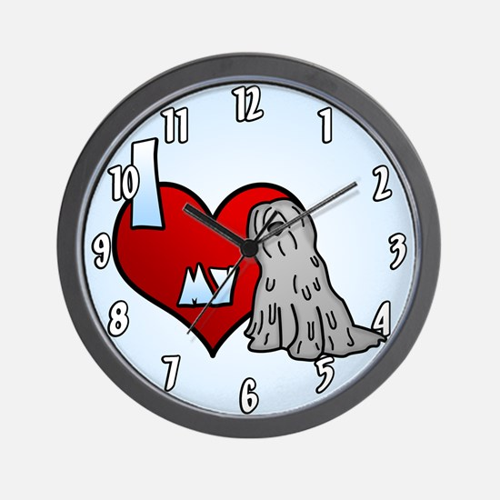 Love Grey Bergamasco Clock