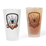 Beat The Champ Drinking Glass