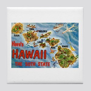 Greetings from Hawaii Tile Coaster