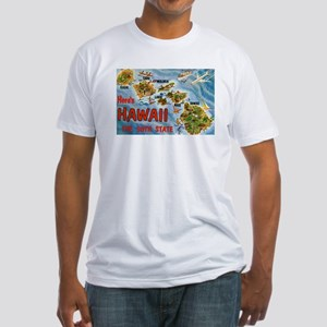 Greetings from Hawaii Fitted T-Shirt