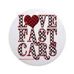 Fast Cars Ornament (Round)