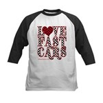 Fast Cars Kids Baseball Jersey