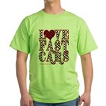 Fast Cars Green T-Shirt
