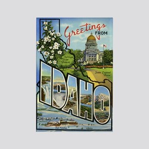 Greetings from Idaho Rectangle Magnet