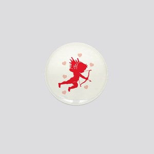 Cupid and Hearts Mini Button