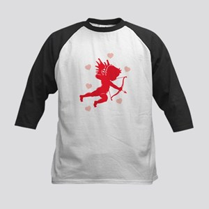 Cupid and Hearts Kids Baseball Jersey