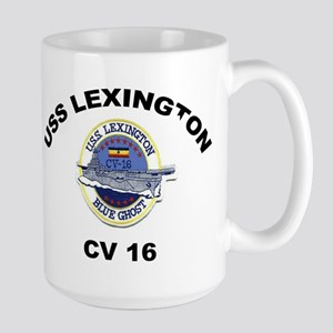USS Lexington CV 16 Large Mug