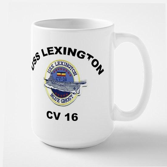 USS Lexington CV 16 Large Mug