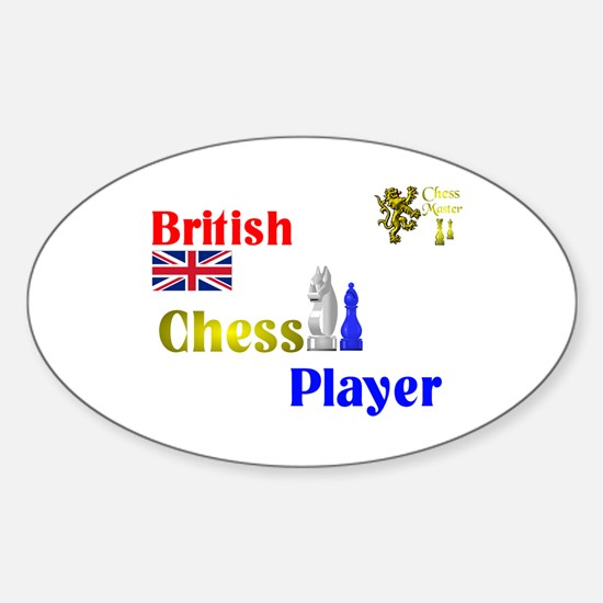 British Chess player. Oval Decal