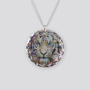 Color Tiger Necklace Circle Charm