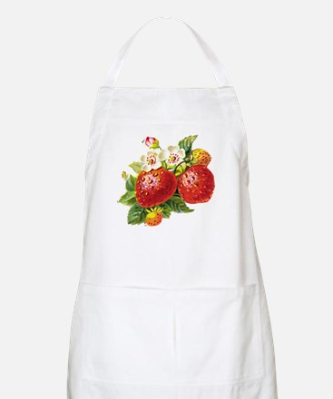 Retro Strawberry BBQ Apron