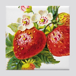 Retro Strawberry Tile Coaster