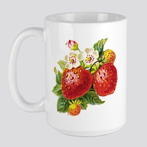 Retro Strawberry Large Mug