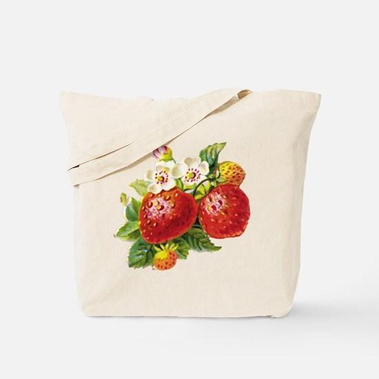 Retro Strawberry Tote Bag