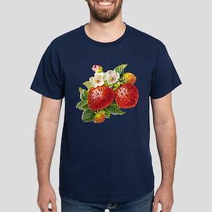 Retro Strawberry Dark T-Shirt