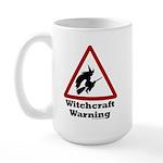 Witchcraft Warning Large Mug