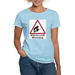 Witchcraft Warning Women's Pink T-Shirt