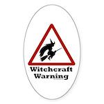 Witchcraft Warning Oval Sticker