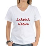 Lakotah Nation Women's V-Neck T-Shirt