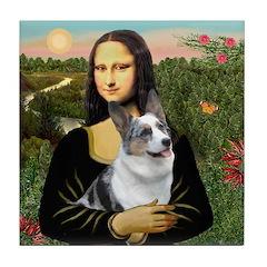 Mona's Corgi (Bl.M) Tile Coaster