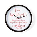 I'm Helaine Wall Clock