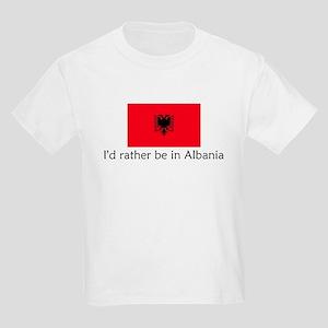 I'd rather be in Albania Kids Light T-Shirt