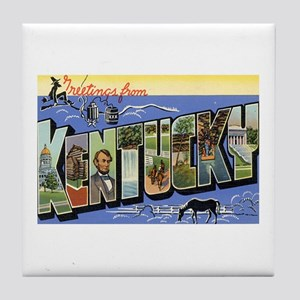 Greetings from Kentucky Tile Coaster