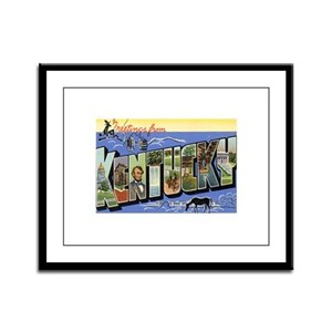 Greetings from Kentucky Framed Panel Print