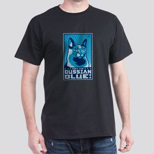 Obey the Russian Blue! Cat Dark T-Shirt