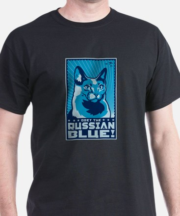 Obey the Russian Blue! Cat T-Shirt