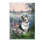 The Seine - Corgi (Bl.M) Postcards (Package of 8)
