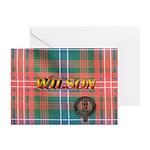 Wilson Tartan & Badge Greeting Cards (Pk of 10